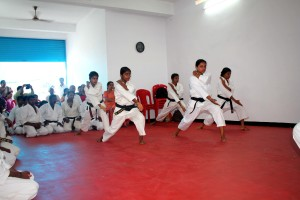 Kata performance by Sempai Neena and team