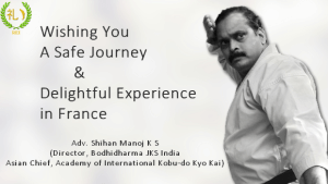 Shihan Manoj to attend Kobu-do Seminar in France