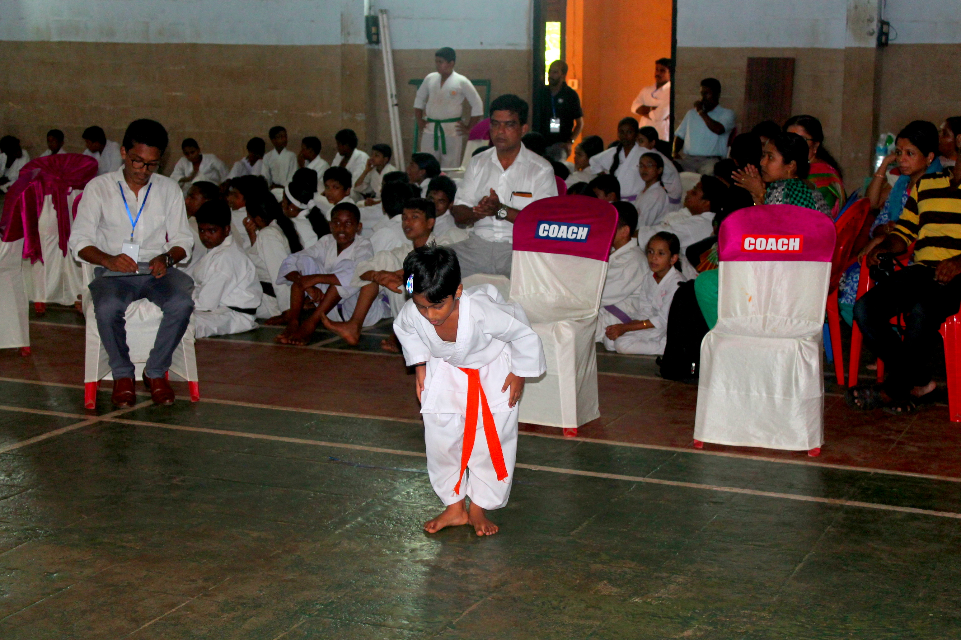 Vaigha R performing Kata