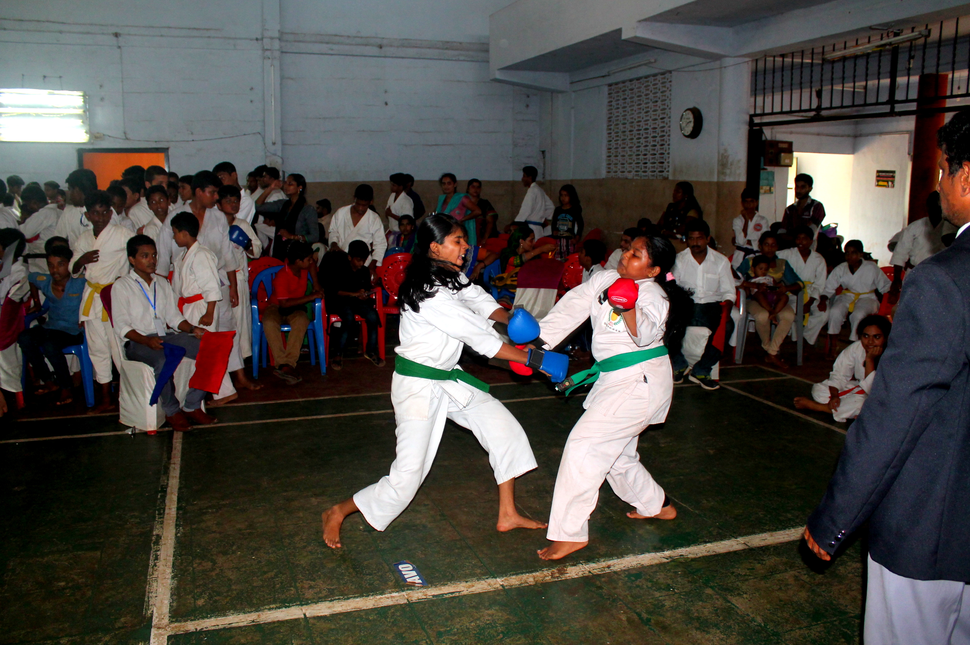 Girls Kumite Champion p Anagha S Nair