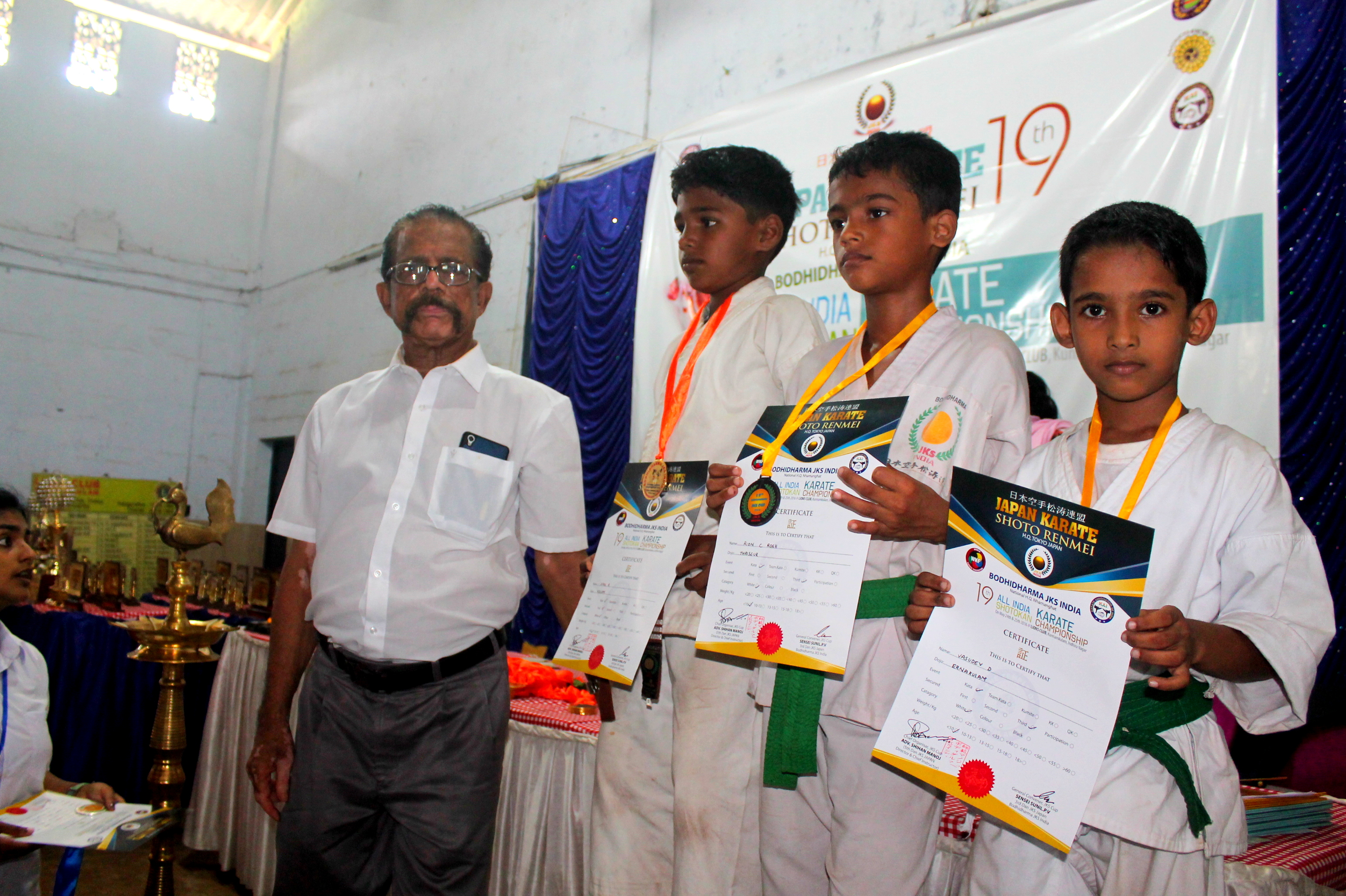 10 years Boys Kata 2nd runner up - Vasudev